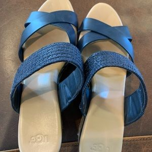 Woman's Navy Blue UGG Size 10 sandals